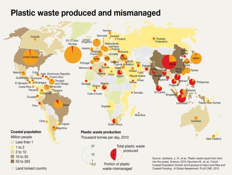 管理不足ごみの世界地図