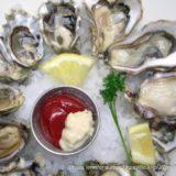 生牡蠣の皿