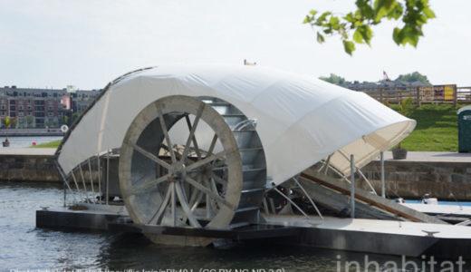 ごみを食べる水車が海洋プラスチックごみを根元からシャットアウト!