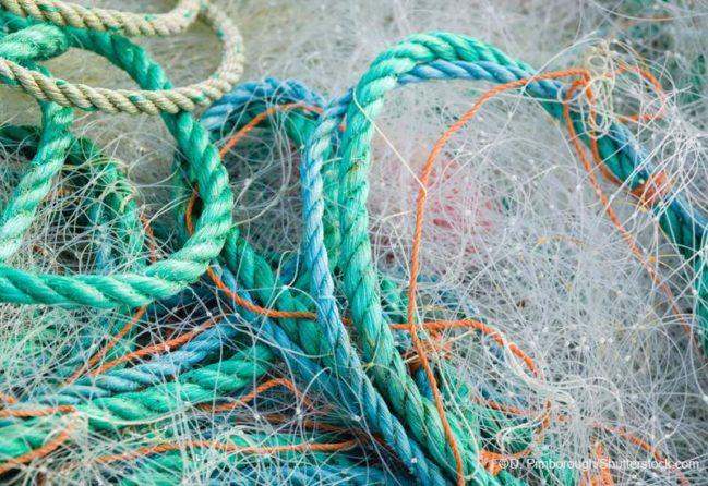 漁網のごみ