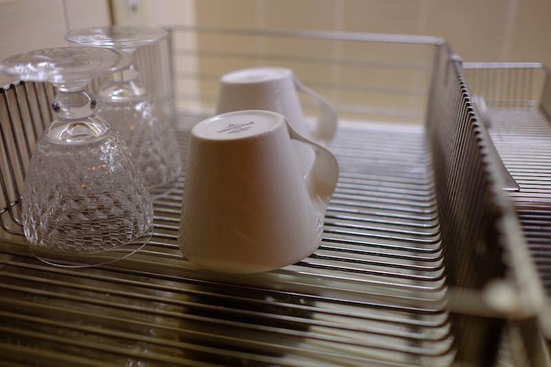 ステンレス製の水切りかご