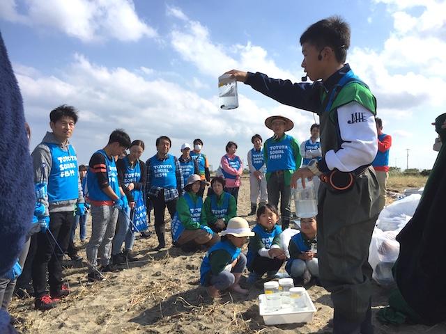 貝の水質浄化実験