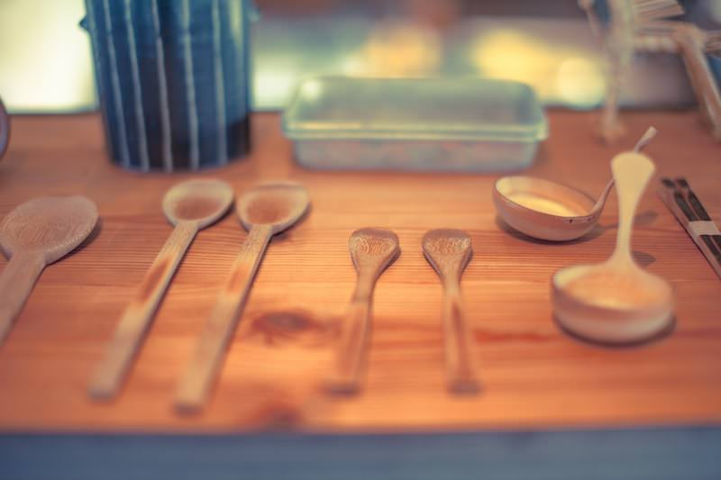 木製のスプーン