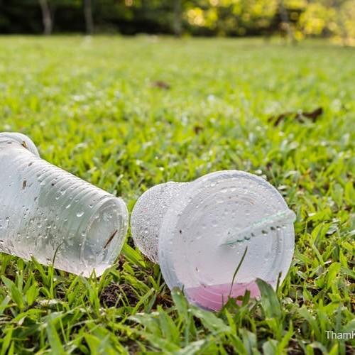 プラスチックの飲料カップ