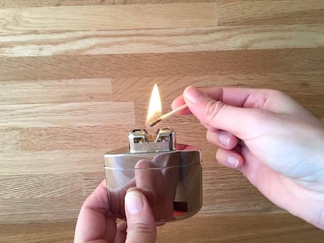 火口に熱を加える