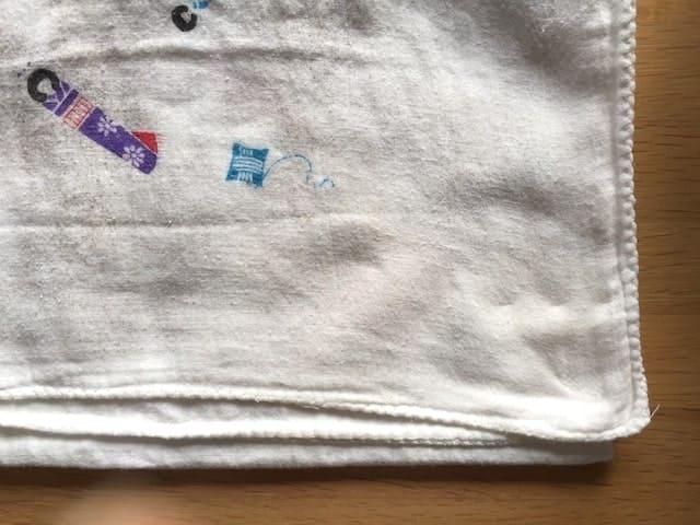 洗濯後の布