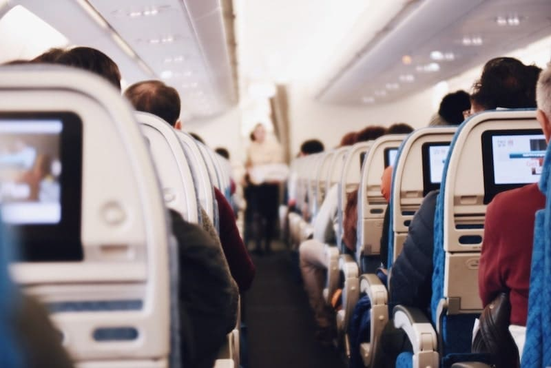 機内でプラスチックフリー
