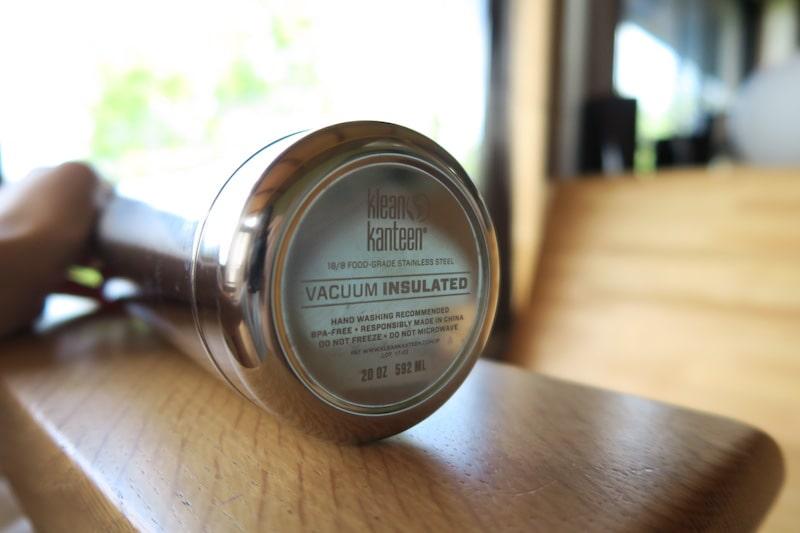 リフレクトインスレートボトルの底面の表示