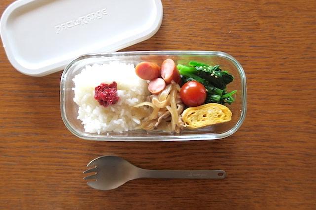 iwakiのパック&レンジのガラスタッパー(500ml)