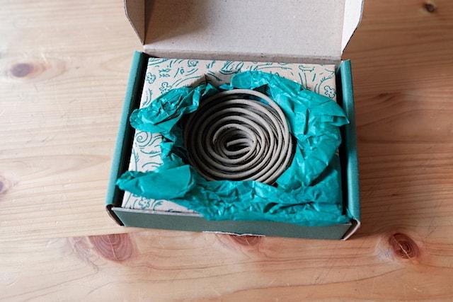 箱の中に月桃香が収まっている様子