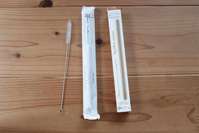 紙で包装されたハンブルの竹ストロー