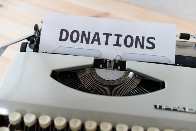 donationの文字