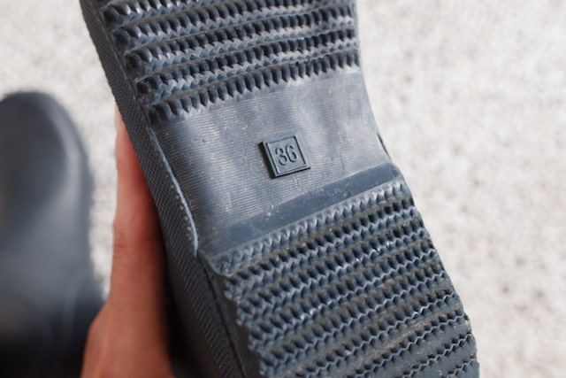 靴底のサイズ表記