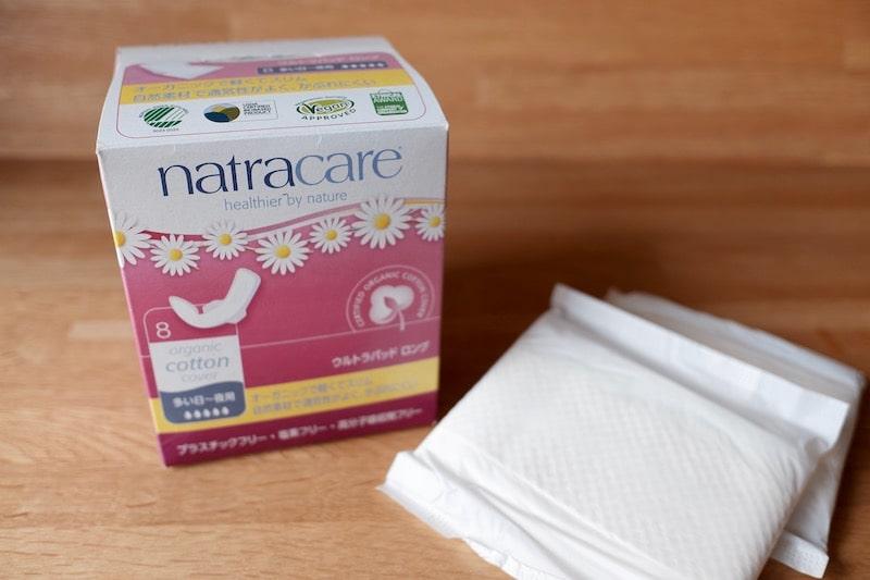 ナトラケアのパッケージとナプキン